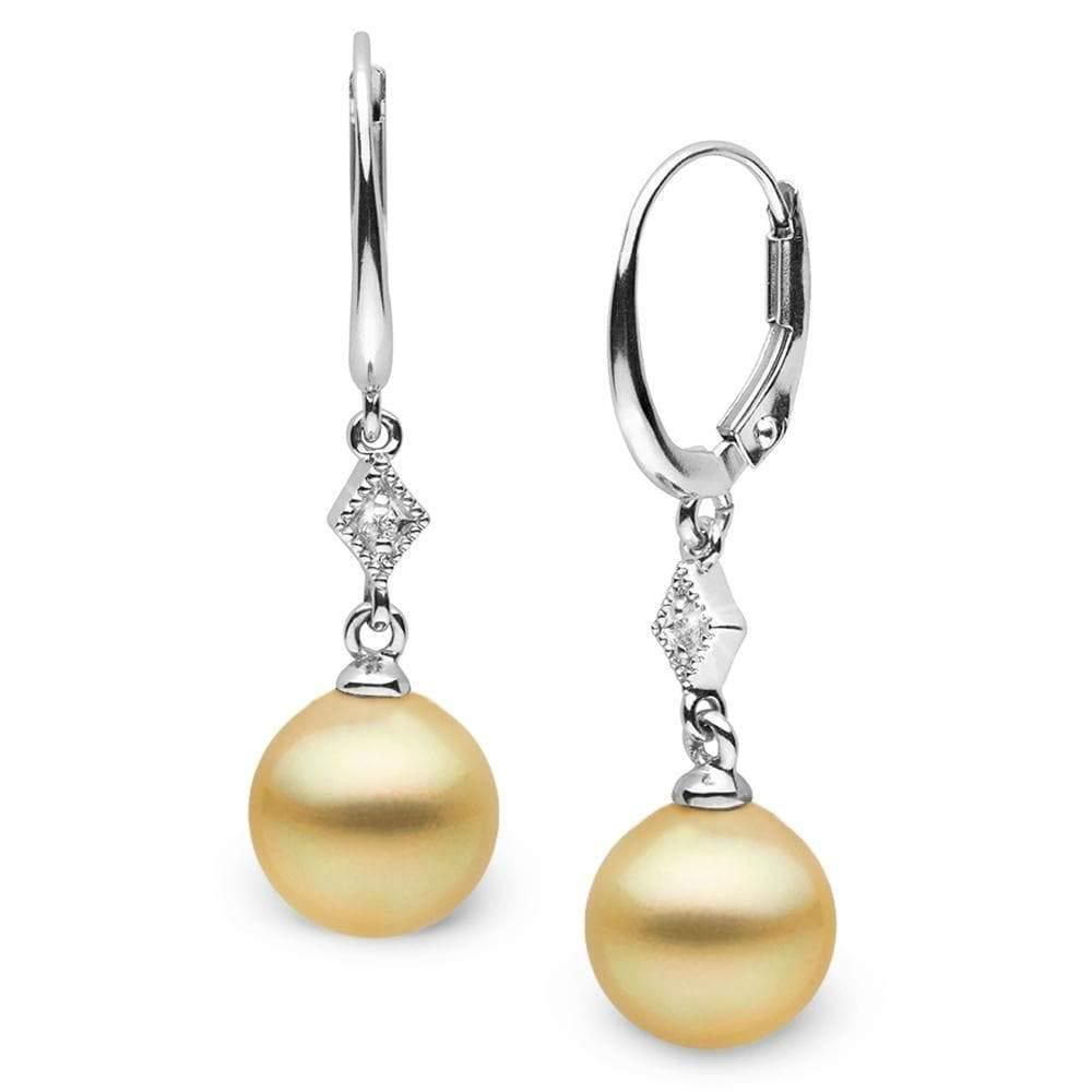 Golden South Sea Round Pearl and Diamond Aerie