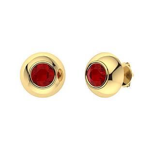 1.26 CTW Garnet Studs Earrings 14K Yellow Gold