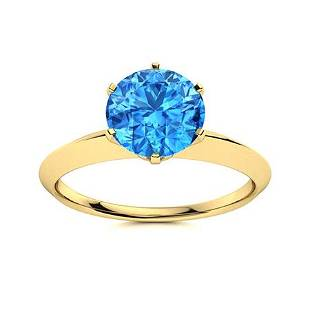Natural 1.06 CTW Topaz Solitaire Ring 18K Yellow Gold
