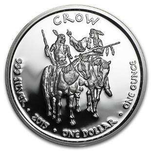 2015 1 oz Silver Proof State Dollars Montana Crow