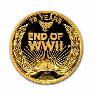 2020 Australia 1/4 oz Gold End of WWII 75th Anniversary