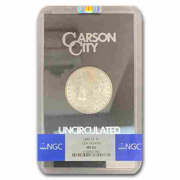 1885-CC Morgan Dollar MS-62 NGC (GSA)