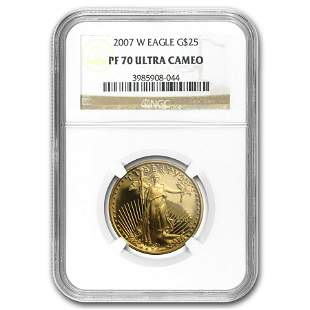 2007-W 1/2 oz Proof American Gold Eagle PF-70 NGC