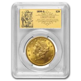 1899-S $20 Liberty Gold Double Eagle BU PCGS