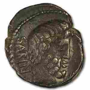 Roman Republic AR Denarius L. Sabinus 89 BC VF