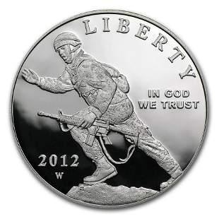 2012-W Infantry Soldier $1 Silver Commem Proof (w/Box &