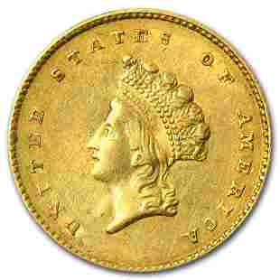 $1 Indian Head Gold Dollar Type 2 XF (Random Year)