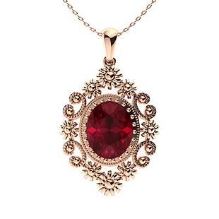 1.89 ctw Ruby Necklace 14K Rose Gold