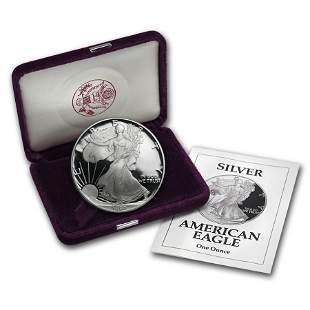 1992-S 1 oz Proof American Silver Eagle (w/Box & COA)