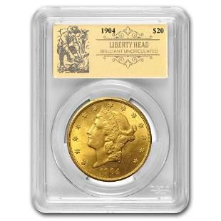 1904 $20 Liberty Gold Double Eagle BU PCGS (Prospector