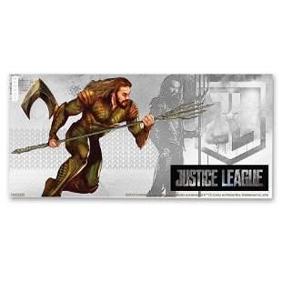 2018 Niue 5 gram Silver $1 Note Justice League Aquaman