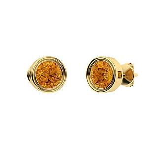 2.86 CTW Citrine Studs Earrings 14K Yellow Gold