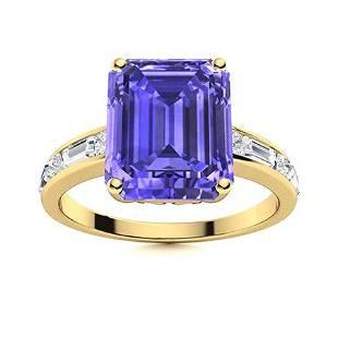 Natural 1.85 CTW Tanzanite & Diamond Engagement Ring
