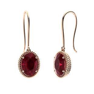 2.78 CTW Ruby Drops Earrings 14K Rose Gold
