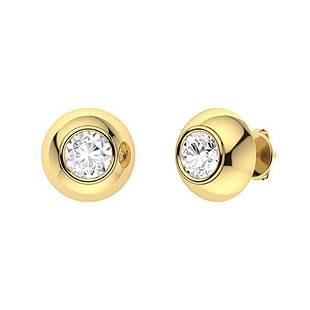 2.06 CTW Diamond Studs Earrings 18K Yellow Gold