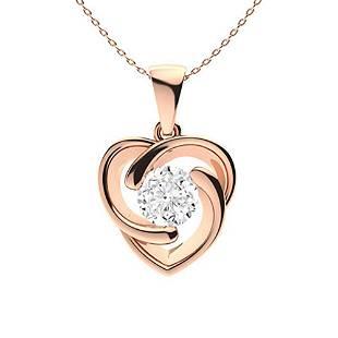 1.87 ctw Diamond Necklace 18K Rose Gold