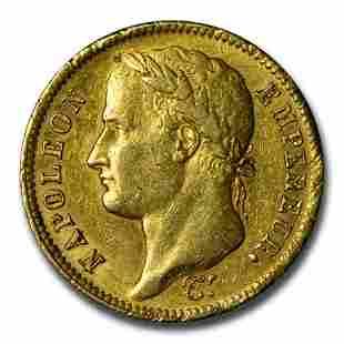 1811-A France 40-Francs Head of Napoleon XF