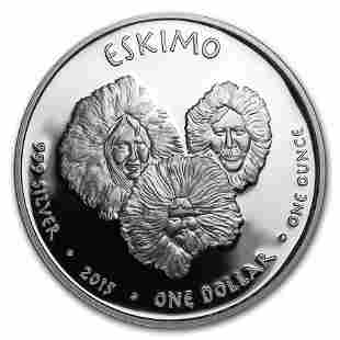 2015 1 oz Silver Proof State Dollars Alaska Eskimo