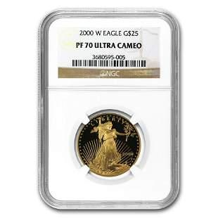2000-W 1/2 oz Proof American Gold Eagle PF-70 NGC