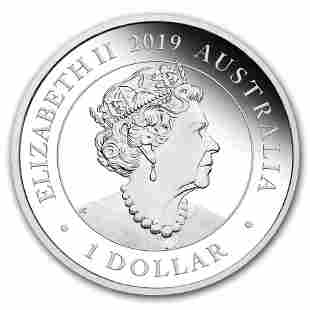 2019 Australia 1 oz Silver Swan Proof (w/Box & COA)