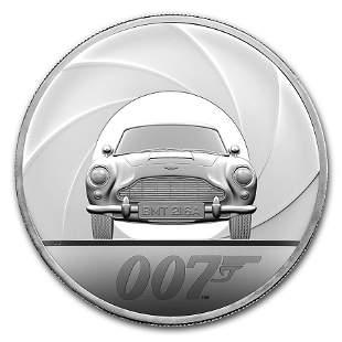 2020 Great Britain 5 oz Silver James Bond 007 Proof
