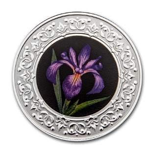 2020 RCM 1/4 oz Ag $3 Floral Emblems - Quebec: Blue