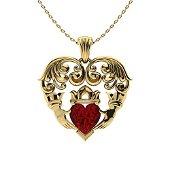 1.12 ctw Garnet Necklace 14K Yellow Gold