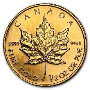 1997 Canada 1/2 oz Gold Maple Leaf BU