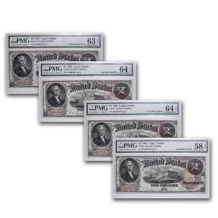 1880 $2.00 Legal Tender Jefferson AU-58/63/64 EPQ PMG