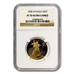 2005-W 1/2 oz Proof American Gold Eagle PF-70 NGC