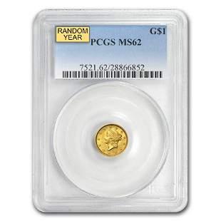 $1 Liberty Head Gold Dollar Type 1 MS-62 NGC/PCGS