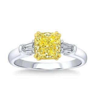 Natural 1.66 CT Diamond Bridal Ring 14K White Gold