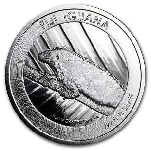 2016 Fiji $1 Silver Iguana BU