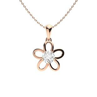 1.02 ctw Moissanite Necklace 18K Rose Gold