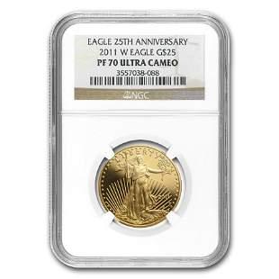 2011-W 1/2 oz Proof American Gold Eagle PF-70 NGC