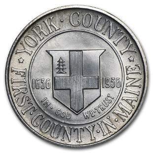 1936 York County Half Dollar Commemorative BU