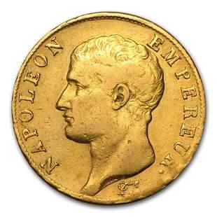 1802-1806 (AN11/AN14) France Gold 40 Francs (Avg Circ)