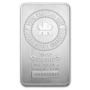 10 oz Silver Bar - Royal Canadian Mint (.9999 Fine, New