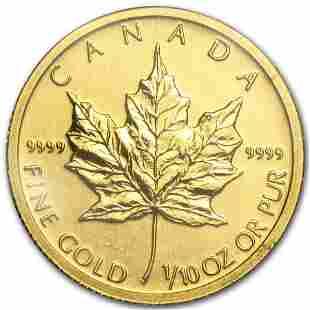 2011 Canada 1/10 oz Gold Maple Leaf BU