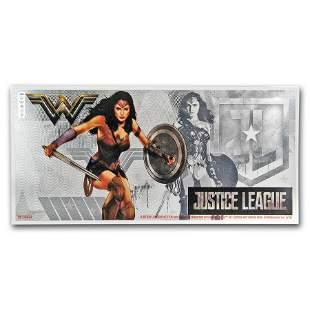 2018 Niue 5 gram Silver $1 Note Justice League Wonder