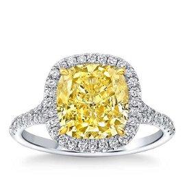 Natural 3.92 CT Diamond Bridal Ring 14K White Gold