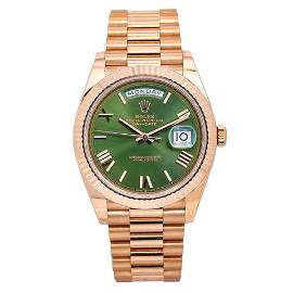 Rolex Day-Date 228235 40MM Green Dial With Rose Gold