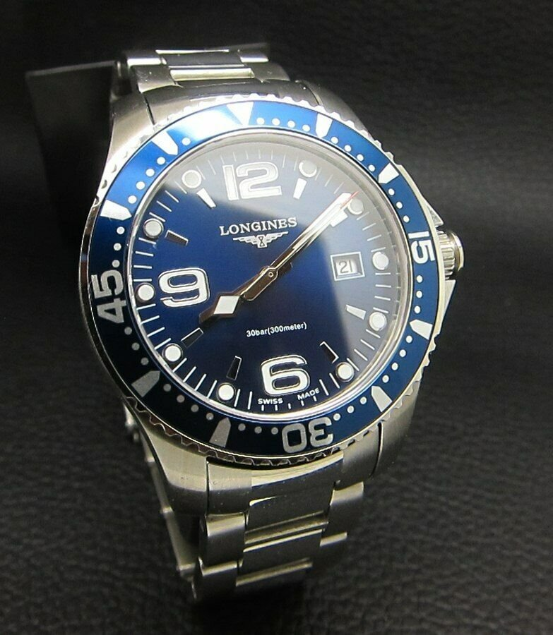 LONGINES HYDROCONQUEST BLUE QUARTZ SWISS WATCH
