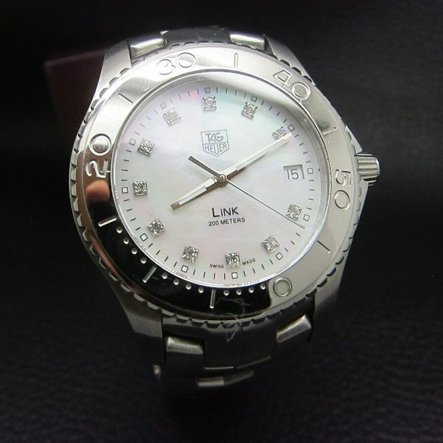 TAG HEUER LINK WJ1114 MOTHER OF PEARL SS DIAMONDS WATCH