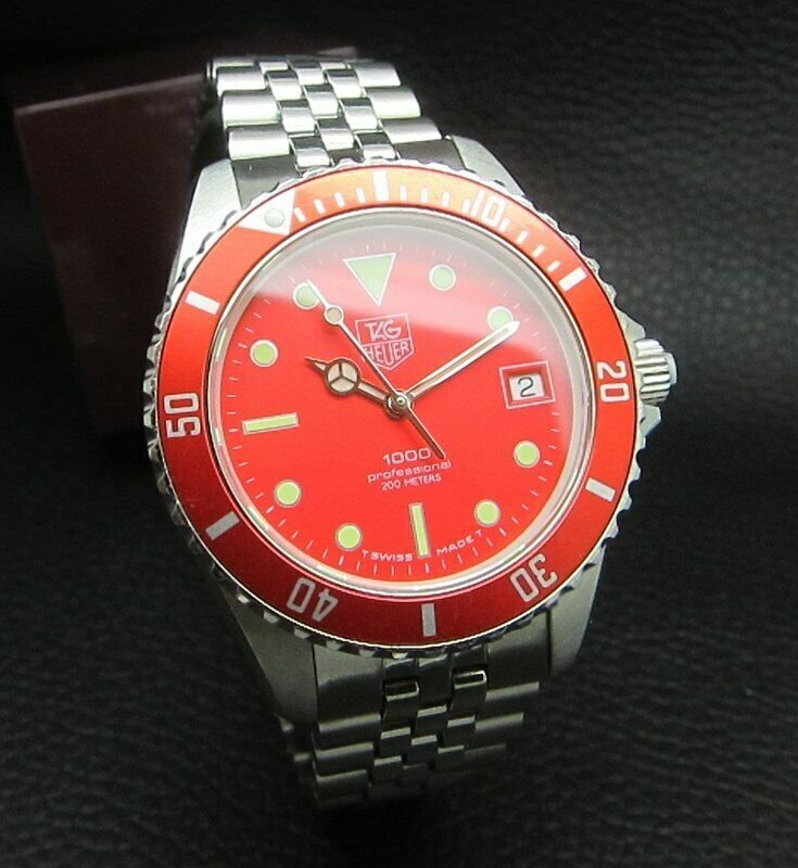 TAG HEUER 1000 Professional 200M RED DIVER MENS WATCH