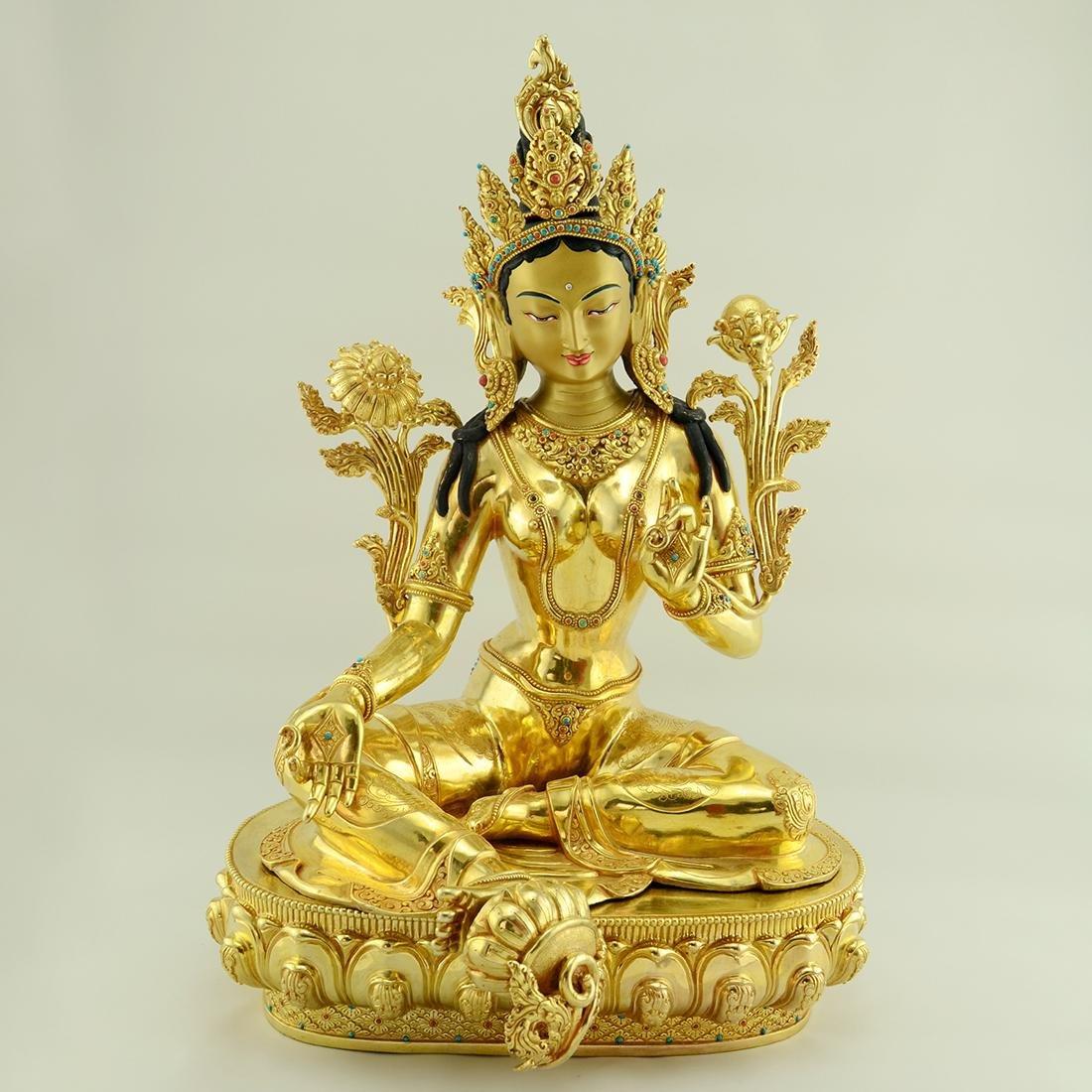 Beautiful Tibetan Green Tara Statue