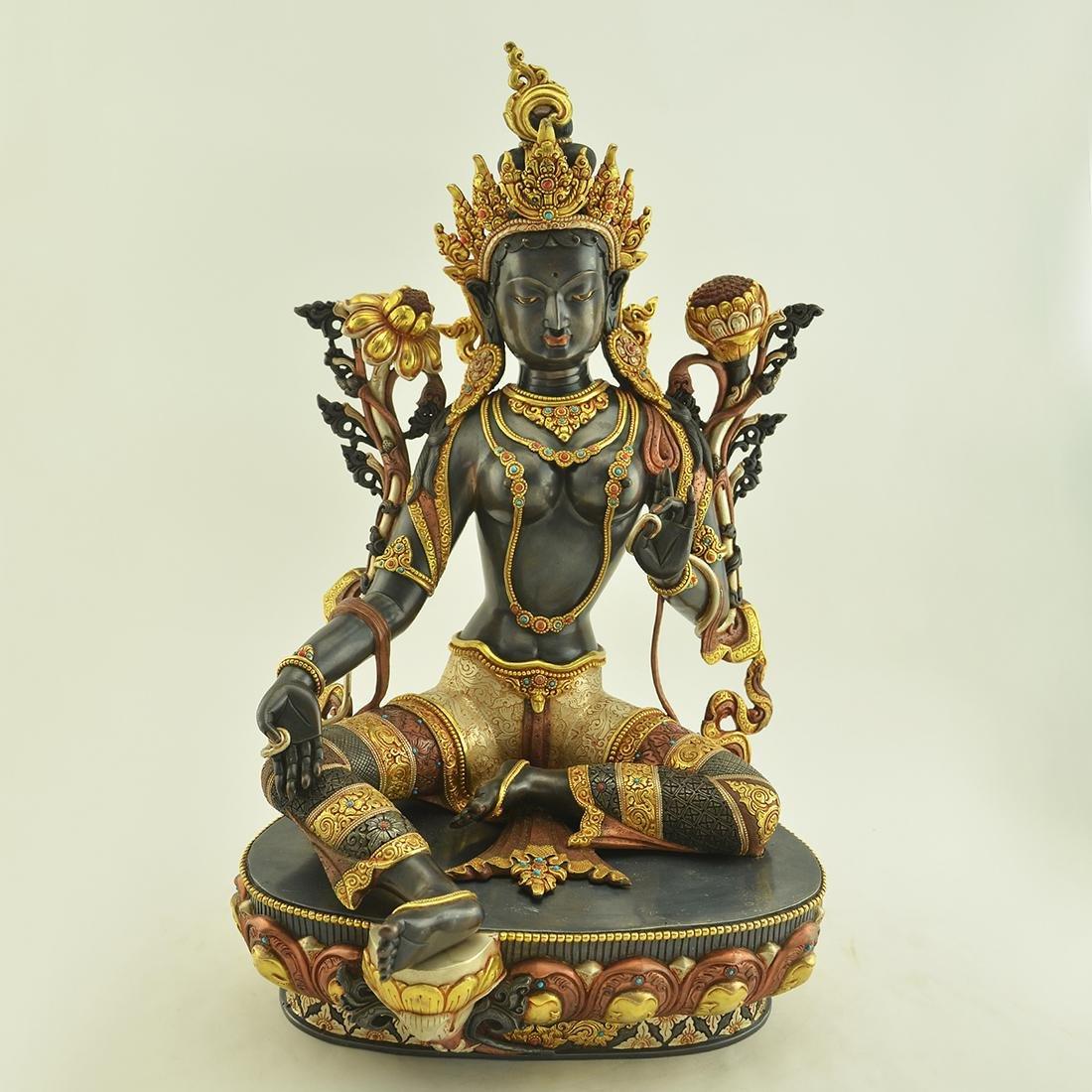 Handcrafted Green Tara Statue