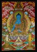 Traditional Hand painted Healing Medicine Buddha