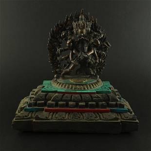 Tibetan Buddhism Chakrasamvara Heruka Copper Statue
