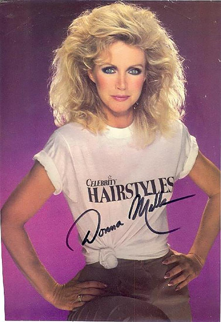Donna Mills- 7.5x11 Signed color photograph  w/COA